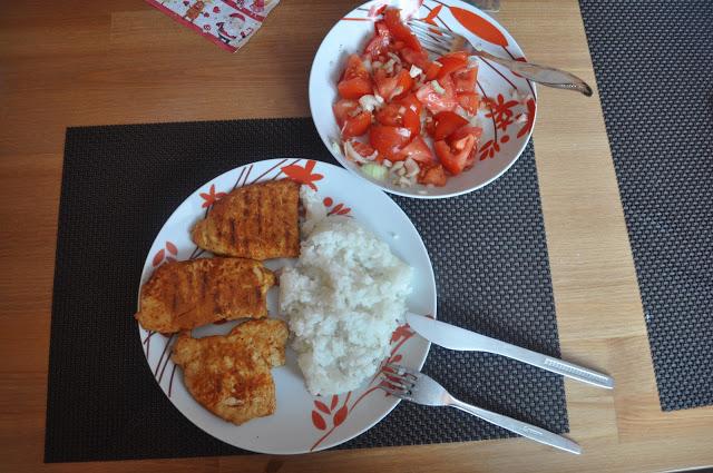 Grillowany kurczak z ryżem