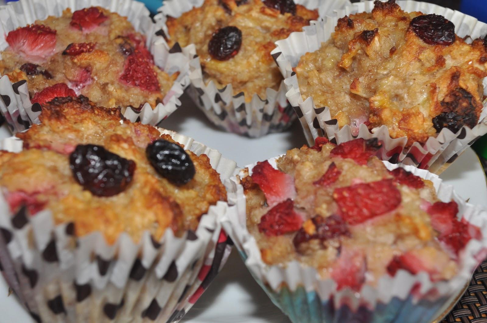 Muffinki Bananowo – Tuskawkowe
