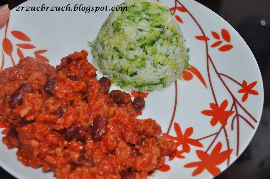 Dietetyczny Ryż z cukinią i czosnkiem